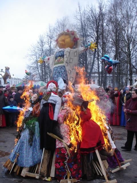 Сожжение Масленицы 2009